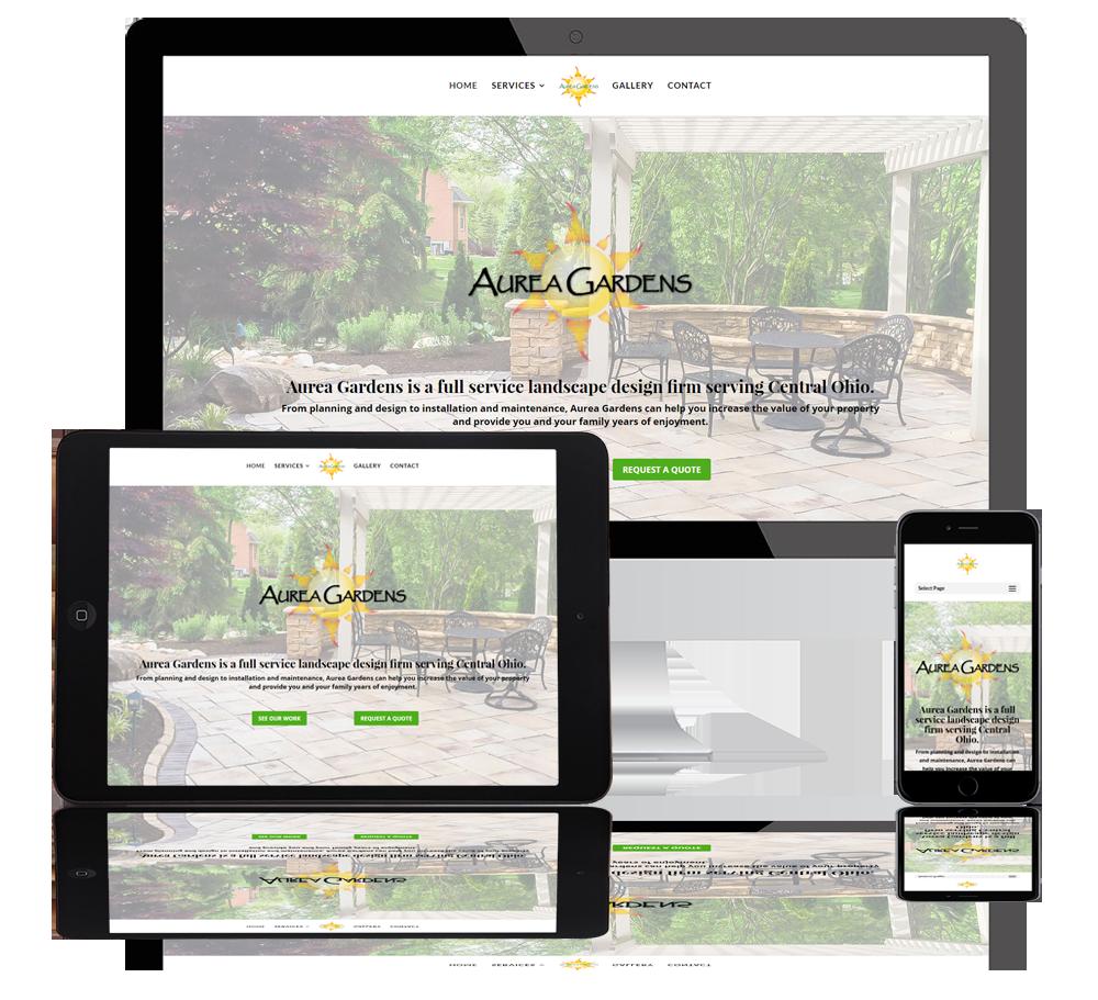 aurea gardens web portfolio