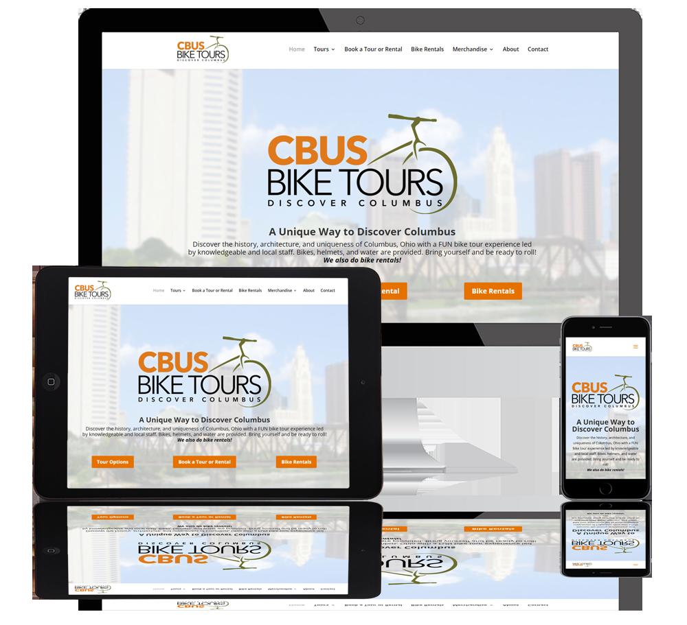 cbus bike tours web portfolio