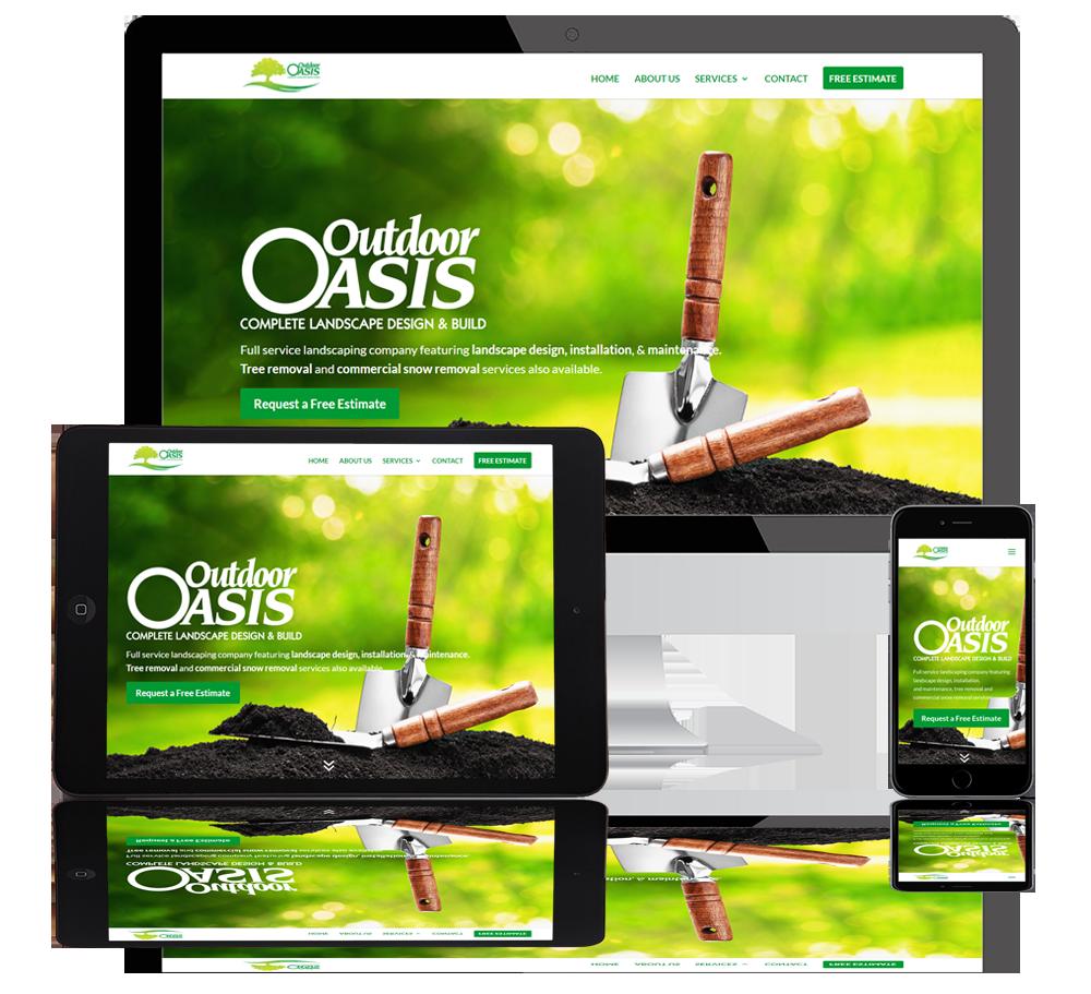 outdoor oasis web portfolio