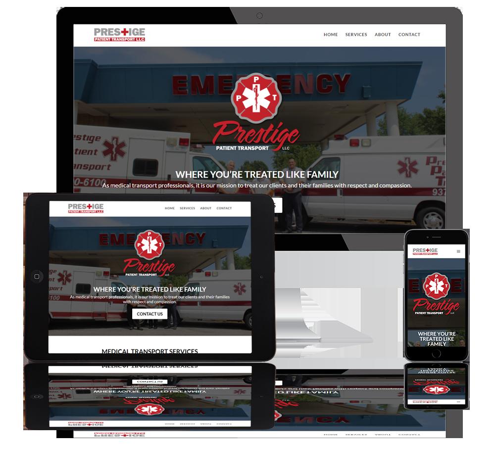 prestige patient transport web portfolio