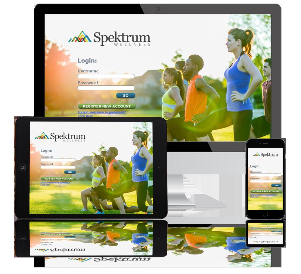 spektrum wellness web portfolio